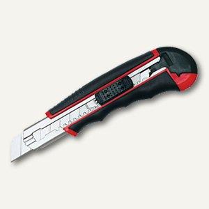 Wedo AUTO-LOAD Profi-Cutter, 18 mm Klingenbreite, schwarz/rot, 78418