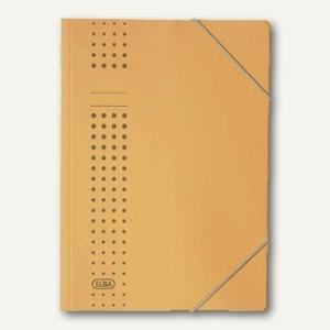 Elba Eckspanner Chic DIN A4, ohne Klappen, aus Karton, gelb, 400010054