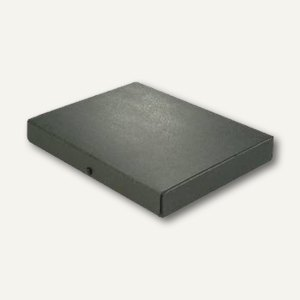 Elba Dokumentenmappe, DIN A4, Druckknopf, 40 mm bis 380 Blatt, schwarz,400001926