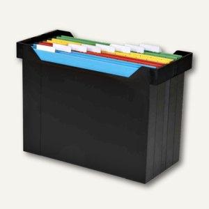 """Elba Hängebox """"Go-Set"""" ohne Deckel, inkl. 8 farbigen Mappen, schwarz, 400005232"""