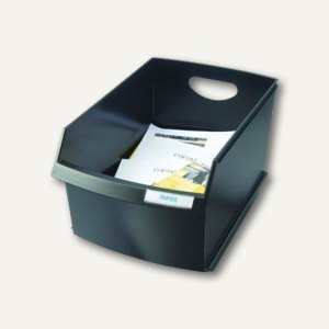 HAN Papierkorb LOGO ohne Deckel, 25 Liter, schwarz, 1849-13