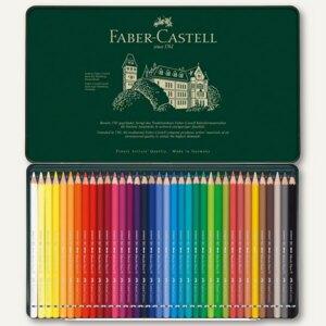 Faber-Castell Aquarell Farbstifte, Metalletui, 36er Pack, 117536