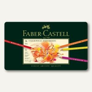 Faber-Castell Polychromos Künstlerfarbstifte, 36er Metalletui, 110036