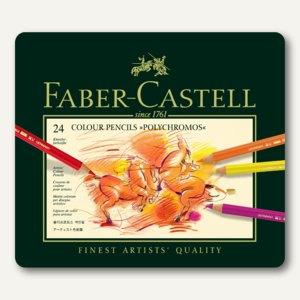 Faber-Castell Polychromos Künstlerfarbstifte, 24er Metalletui, 110024