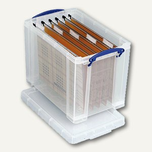 Really Useful Box Aufbewahrungsbox 19 Liter, 315 x 210 x 270 mm, transparent,19C