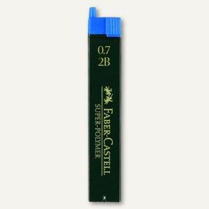 Faber-Castell Feinminen, 0.7 mm, Härte: 2B, 12 Stück/Dose, 120702
