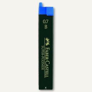 Faber-Castell Feinminen, 0.7 mm, Härte: B, 12 Stück/Dose, 120701