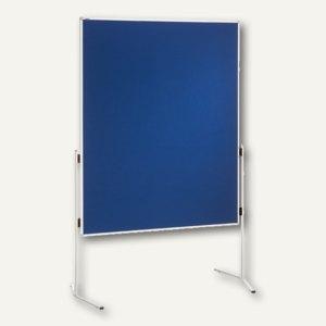 Franken Moderatorentafel ECO, 120 x 150 cm, ungeteilt, Filz, blau, ECO-UMTF 03