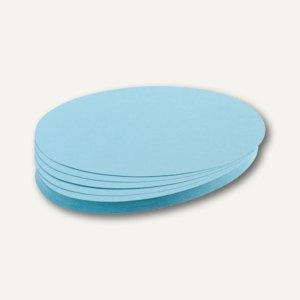 Franken Moderatorenkarten, Kreis, Ø 14 cm, blau, 500 Stück, UMZ 14 18