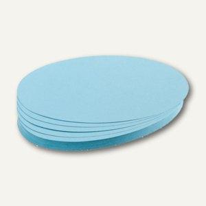 Franken Moderatorenkarten, oval, 19 x 11 cm, blau, 500 Stück, UMZ 1119 18