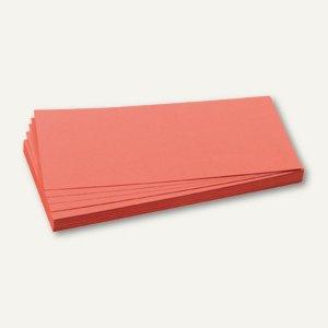 Franken Moderationskarten - Rechteck, 9.5 x 20.5 cm, rot, 500 Stück, UMZ 1020 07