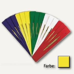 officio Heftstreifen DIN A4 PP, lang 38 x 310 mm, gelb, 100er-Pack