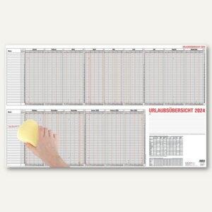 Güss Urlaubsübersicht für 40 Mitarbeiter, 15 Monate, 98.5 x 60 cm, 12-30
