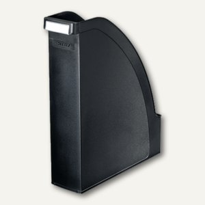 LEITZ Stehsammler Plus, DIN A4 hoch u. quer nutzbar, PS schwarz, 2476-00-95