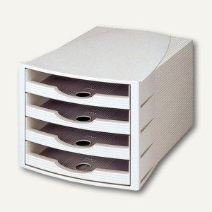HAN Schubladenbox MONITOR, vier offene Schübe, grau, 1000-D-11