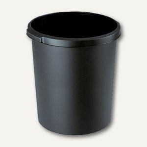 HAN Papierkorb mit Griffmulden, 30 Liter, schwarz, 1834-13