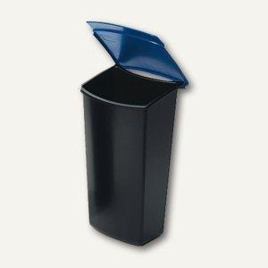 HAN Abfalleinsatz MONDO, 3 Liter, mit Deckel, schwarz/blau, 1843-14