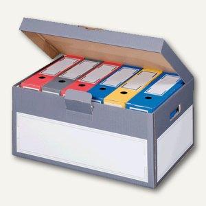 smartboxpro Archivbox mit Deckel, 530 x 380 x 285 mm, anthrazit/weiß, 227160805