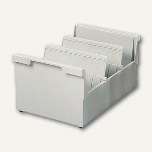 HAN Kartei-/Einhängetrog für Schubladen, A6 quer, grau, 1141371