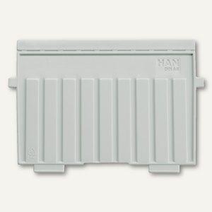 HAN Stützplatten DIN A6 quer, grau, 9026-11