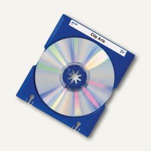 HAN CD-Mäx-Tray, inkl. Beschriftungsetiketten, blau, 10 Stück, 9201-14