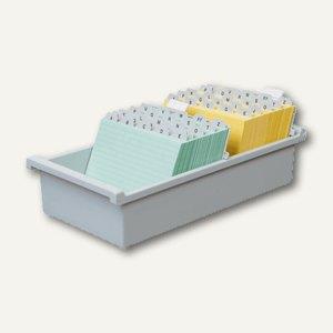 HAN Karteitrog DIN A5 quer, für 1.300 Karten, Kunststoff, grau, 955-0-11