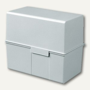 HAN Karteibox DIN A5, bis 450 Karten, grau, 975-11