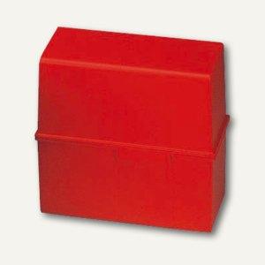 HAN Karteibox DIN A5, bis 450 Karten, rot, 975-17