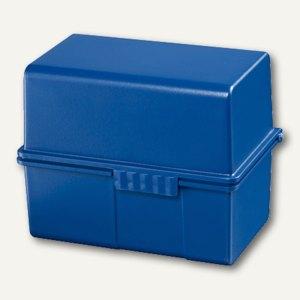HAN Karteibox DIN A6, bis 400 Karten, blau, 976-14