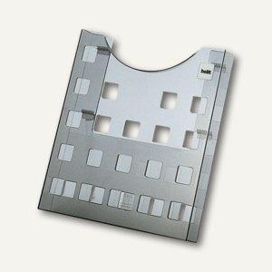Prospekthalter Wandanbringung/Tischaufbau DIN A4 grau-transparent, H61025.08