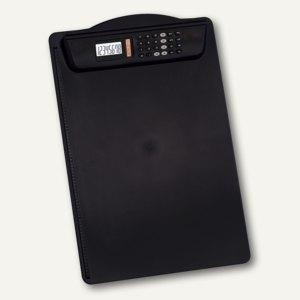 MAUL Klemm-Schreibplatte mit Rechner, DIN A4, schwarz, 2325490