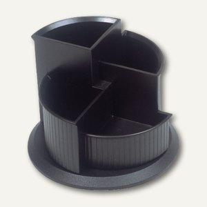 Helit Multiköcher mit Fußteil, drehbar, Ø150xH112mm, schwarz, H63905.95