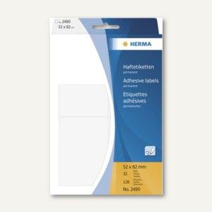 Herma Vielzweck-Etiketten, 52 x 82 mm, weiß, 128 St., 2490