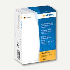 Herma Frankier-Etiketten, doppelt, 140 x 50 mm, 500 Stück, 4321