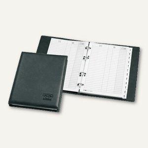 """Veloflex Telefonringbuch """"Exquisit"""", 182 x 225 mm, 4-Rund-Ringe, schwarz,5158780"""