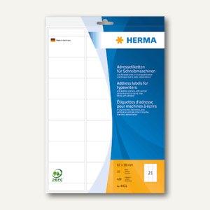 Herma Adress-Etiketten Ecken abgerundet, 67 x 38 mm, 420 Stück, 4431