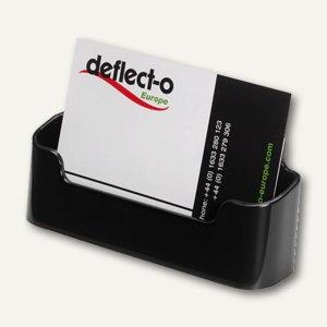 deflect.o Visitenkartenhalter, 96x35x45mm, bis 50 Karten, schwarz, DE70104