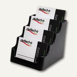 deflect.o Visitenkartenhalter, 4 Fächer, 99 x 113 x 95 mm, schwarz, DE70404
