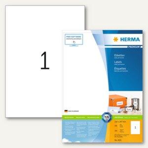 "Herma Etiketten ""Premium"", DIN A4, 210 x 297 mm, weiß/matt, 200 Stück, 4631"