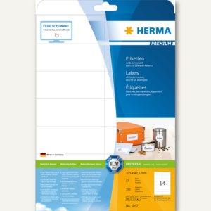 """Etiketten """"Premium"""", DIN A4, 105 x 42,3 mm, permanent, weiß, 350 Stück, 5057"""