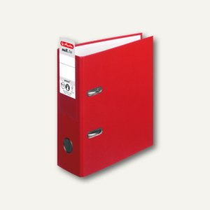 Herlitz PP-Ordner maX.file protect DIN A5 hoch, Breite 75 mm, rot, 10842318