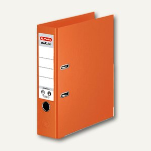 Herlitz Ordner maX.file protect plus, Kantenschutz, 80 mm, orange, 10834471