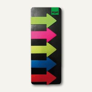 Haftmarker Film, Motiv Pfeil, 5 Farben im Pocketspender, 5 x 25 Blatt, HN600