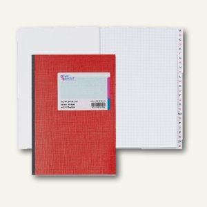 König & Ebhardt Kladde, DIN A5, kariert, 96 Blatt, Register A-Z, 8618752