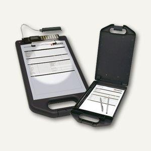Klemmbrett A4 m. Aufbewahrungsfach/LED-Lampe/Solarrechner