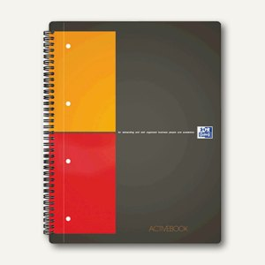 "International Collegeblock ""Activebook"" kariert A5+ versetzbares Register 80 Bl."