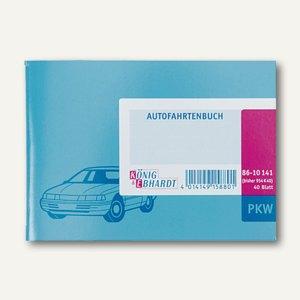 K&E PKW - Fahrtenbuch DIN A6 quer, quer 40 Blatt, 8610141