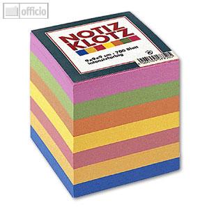 Artikelbild: Zettelklotz farbig 9x9x9cm