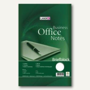 Landré Briefblock, DIN A4, blanko, 50 Blatt, 10 Blöcke, 100050262