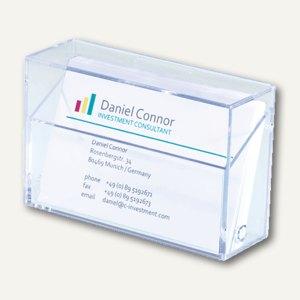 Visitenkarten-Box glasklar